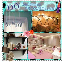 """DIY bedroom decorations;"" by yourpolyvoretipsanon on Polyvore"