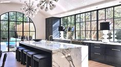 Modern Kitchen Interior Arched Ceiling Tile Kitchen Remodel - Magnificent white arched tile ceiling kitchen remodel from Benecki Homes Melanie Turner Interior Design. Home Decor Kitchen, Interior Design Kitchen, Kitchen Ideas, Best Home Interior Design, Condo Kitchen, Simple Interior, Kitchen Themes, Apartment Kitchen, Kitchen Designs