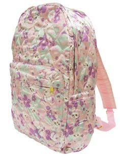 Swimmer floral satin backpack