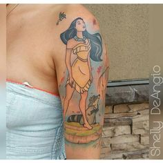 diy best tattoo - Am schönsten Cool Tattoos For Girls, Cute Tattoos, Girl Tattoos, Small Tattoos, Tatoos, Nerdy Tattoos, Disney Tattoos Pocahontas, Meeko Pocahontas, Tattoo Disney
