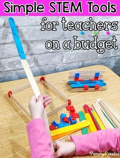STEM activities are fantastic for teaching students critical thinking, problem solving, and creativity. Here are two fantastic, reusable STEM options. Back To School Organization, Teacher Organization, Teacher Hacks, Stem School, Middle School Science, Primary School, High School, Science Activities, Classroom Activities