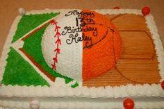 1/2 1/2 sports cake