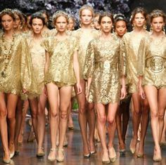 #golden #age #photoshoot #gold #runway