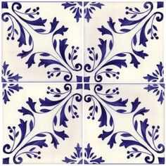 Sintra Antique Handpainted Portuguese tiles - -Madeira 4 tile