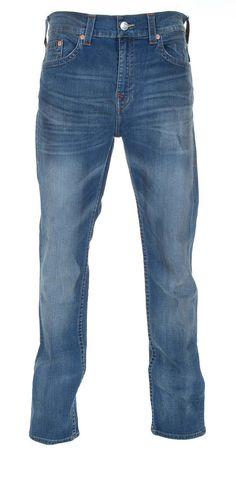 True Religion Mens Tapered No Flaps Jeans Size 36 in True Hillio NWT $317 #TrueReligion #Tapered