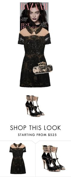 """Ilaria #5422"" by canlui ❤ liked on Polyvore featuring Notte by Marchesa and Alexander McQueen"