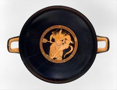 """Terracotta kylix (drinking cup)"" (ca. 490-480 BCE), attrib. to Makron. Greece, Attic, Archaic period. Posted on metmuseum.org."