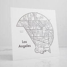 LA Letterpress Print
