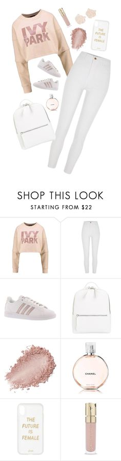 """pink"" by el011 ❤ liked on Polyvore featuring Ivy Park, River Island, adidas, Chelsea28, Chanel, Sonix, Smith & Cult and Kenzo"