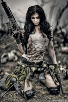 I hope I can find me a sexy badass when the Zombie Apocalypse comes...