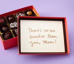 One way to make a box of chocolates for Mother's Day a bit more special.via Real Simple Happy Mothers Day Wishes, Diy Gifts For Mothers, Mothers Day Presents, Mothers Day Crafts, Mother Day Gifts, Craft Christmas Presents, Holiday Gifts, Mothers Day Chocolates, Cute Diy