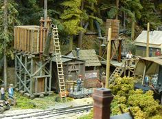 """Railroad Line Forums - The Gallery: Mar. """"Towers: Water, Coal & More"""" Ho Scale Train Layout, Ho Scale Trains, Model Train Layouts, Model Trains, Towers, Engine, House Styles, Gallery, Water"""