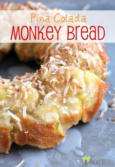 Pina Colada Monkey Bread | EricasRecipes.com