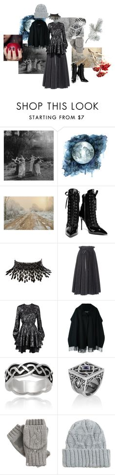 """""""Winter Witch"""" by queenofteeth ❤ liked on Polyvore featuring Giuseppe Zanotti, Amrita Singh, Dice Kayek, Just Cavalli, Salvatore Ferragamo, Journee Collection, Isotoner, MANGO, Winter and cold"""