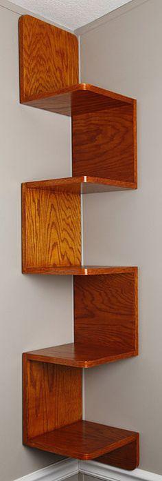 Zigzag shelf - by TDSpade @ LumberJocks.com ~ woodworking community