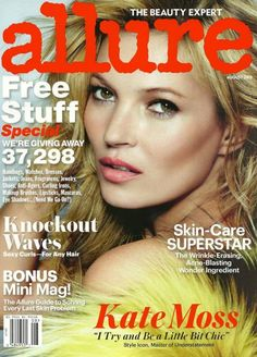 Kate Moss is the Cover Star of Allure's August 2013 Issue