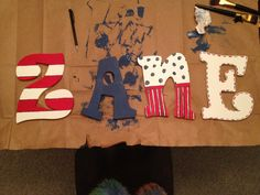 Painted some letters today for Zane's Dr. Seuss room :).