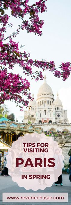 Check out this blog post for all information about visiting Paris in spring, where to stay, what to eat, how to move around, metro prices and safety rules of Paris, France! Spring is the best time to visit Paris, France for a real French adventure of love, sightseeing and culture #spring #blossom #paris #france #eurotrip #vacation #bucketlist
