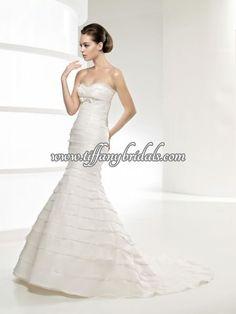 La Sposa Wedding Dresses - Style Levina La Sposa Wedding Dresses, Wedding Dress Styles, One Shoulder Wedding Dress, Fashion Dresses, Decor Ideas, Fashion Show Dresses, La Sposa Wedding Gowns, Trendy Dresses, Stylish Dresses
