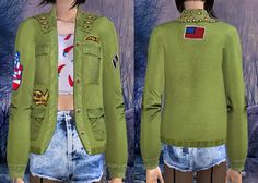 But I'm here now, and brought you 3 accessory jackets with 3 style. Sims 2, Outfits For Teens, Military Jacket, Teen Clothing, Cas, Floor Plans, Clothes, Accessories, Style