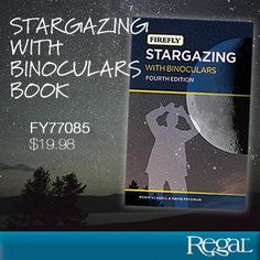 "STARGAZING WITH BINOCULARS from Regal Gifts Gives clear step-by-step instructions for finding objects and explains what can be seen from both northern and southern hemispheres. Great tips on how to use binoculars, the effects of light pollution and a month-by-month guide to the best objects to study. Even binoculars without bells and whistles will give the viewer an exciting look into the night sky. 208 pages, softcover. 7-3/4""L x 5""W Product Number FY77085"