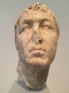 Portrait head of a middle-aged man. Pentelic marble. Found in Athens. 75-50 BC