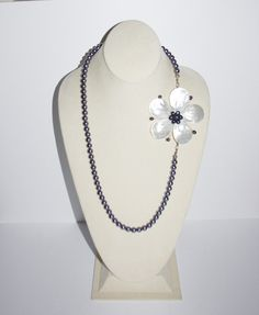 Convertible Black Pearl Necklace Removable by SCLadyDiJewelry