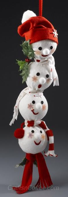 snowman crafts ideas for kids, preschoolers and adults. Homemade snowman crafts to make and sell. Fun and easy snowman projects, patterns. How to make snowmen using clay, paper, felt. (sock crafts for adults) Christmas Snowman, Winter Christmas, All Things Christmas, Christmas Holidays, Christmas Decorations, Christmas Ornaments, Christmas Sock, Diy Snowman Decorations, Desk Decorations