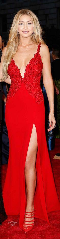 Gigi Hadid In Red