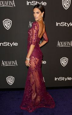Alessandra Ambrosio Photos: 2015 InStyle And Warner Bros. 72nd Annual Golden Globe Awards Post-Party - Arrivals