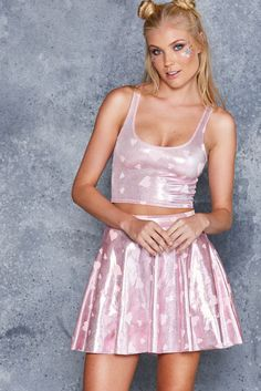 Barbie Goes Disco Reversible Crop - LIMITED ($45AUD) by BlackMilk Clothing