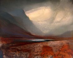 Glencoe by Beth Robertson Fiddes; mixed media on wood panel