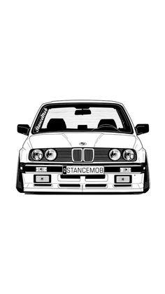 Tuner Cars, Jdm Cars, Bmw E36 318is, E36 Cabrio, Vinyl Wrap Car, Car Vector, Bmw 2002, Drifting Cars, Car Drawings