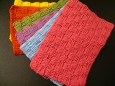 Here in the Waiting Place: Crocheted Basketweave Placemat