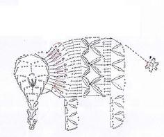 Solo esquemas y diseños de crochet: mariposas