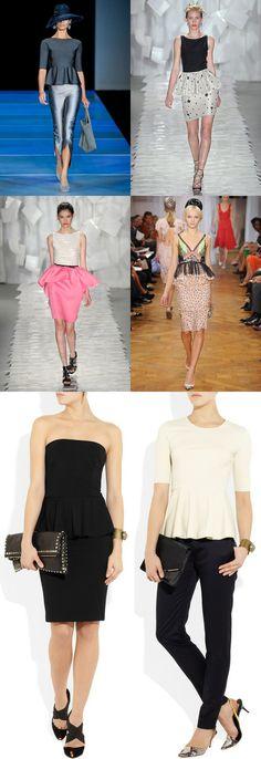 #peplum #skirt #dress #spring 2012 #trends #fashion #style via The Style Umbrella