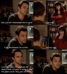 Nick Miller, trying to sound smart. New Girl