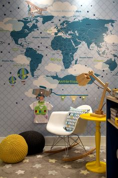Quarto do Rafa - Mapa mundi LINDO!