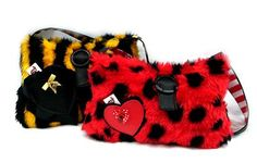 'Bumblicious' & 'Lil Ladybug' by Soo at The Deitychain  #funfurbags #bumblebeebag #ladybirdbag #polkadotbag ##stripedbag
