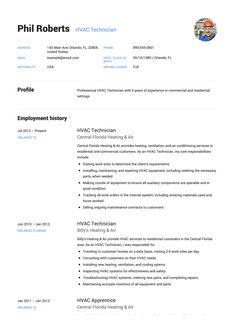 10 Best Hvac Technician Resume Examples Images Hvac Technician