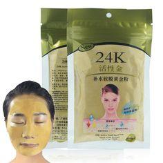 新しい24 kゴールドコラーゲンアクティブフェイスマスクパウダー美白保湿抗しわフェイスマスク治療スキンケア顔のマスク