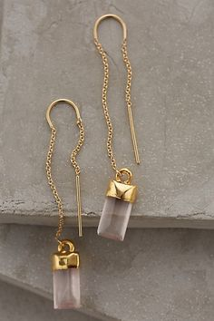 beautiful quartz drop earrings #anthrofave