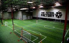 Check out this amazing soccer training facility based in Southern California! Football Pitch, Football Stadiums, Football Field, Baseball Training, Sports Training, Indoor Soccer Field, Nova Jersey, Backyard Sports, Soccer Academy