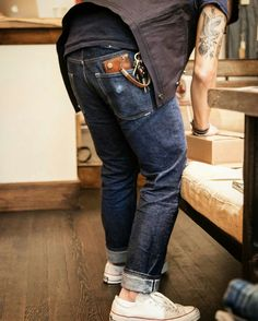 Rock`n Roll,Blues,Country and Americana : Photo Urban Fashion, Mens Fashion, Fashion Outfits, Looks Style, Style Me, Edwin Jeans, Daytime Outfit, Style Masculin, Nudie Jeans