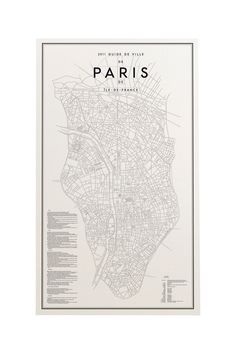 Guide to Paris Affisch from Ehrenstråhle  Wågnert. Design by David Ehrenstråhle. #black #white