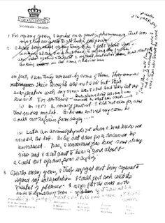 McClintock, Barbara. [Nobel Prize Banquet]. Lecture Notes. 20 Images. 1983.