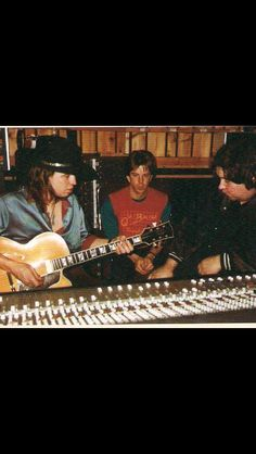 Stevie in the studio!! ♥ you SRV