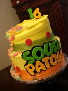 candy birthday cakes | Sour Patch candy birthday cake | Flickr - Photo Sharing!