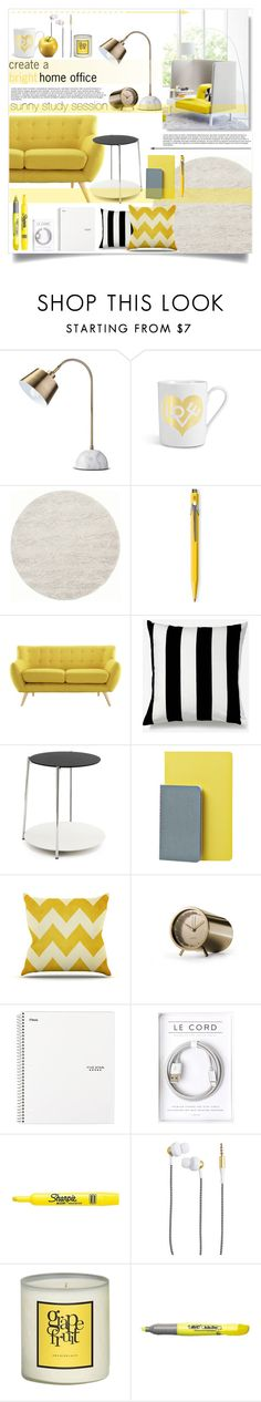 """Home Office"" by sophie-martina ❤ liked on Polyvore featuring interior, interiors, interior design, home, home decor, interior decorating, Threshold, Vitra, Caran D'Ache and LexMod"