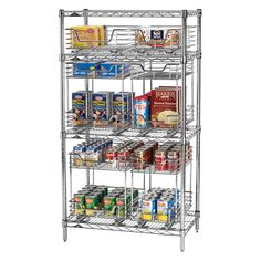 Kitchen organization is a snap with the Household Essentials Set of 8 Chrome Brackets . It's ideal for a pantry or storage closet, and. Steel Shelving, Wire Shelving, Shelves, Closet Storage, Kitchen Storage, Wall Storage, Commercial Kitchen, Shelf Brackets, Pantry Organization